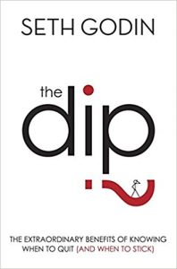 Front cover of 'The Dip' by Seth Godin